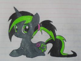 Unicorn OC pony: Neon Dazzle by LucySpicyStrawberry