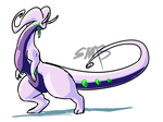 Goodra Doodle by SpottedAlienMonster