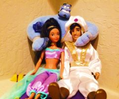 12' Aladdin Dolls by julesmistletoe