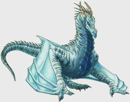 Blue Wyvern by Mirsathia