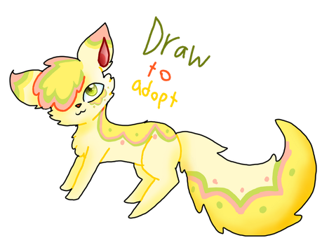 Draw To Adopt open by king-cupcakes
