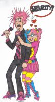 Jimmy's crazy fangirl colored by DaniYellowstockings