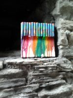 Art bombed crayon drip by redmingum