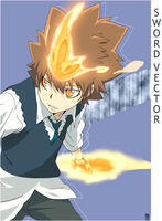Tsuna Vector by Mirage-Sword