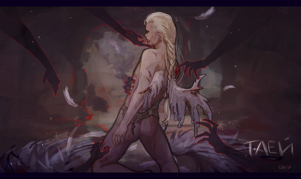 Tortured angel by CatrineNice