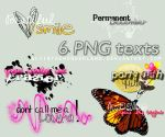 6 PNG pack by alyinthewonderland