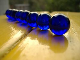 Blue Marbles by richardxthripp