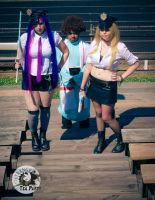 Panty and Stocking with Gaterbelt -Cop Cosplay- by MikuMikuJinx