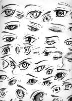 eye study by TheSilverRuby