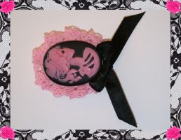 Skele Cameo Brooch Pink by PinkHazard