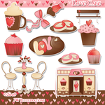Love Cafe Clipart by jdDoodles