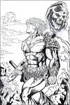 He-Man haunted by Skeletor - Bruno - Egli - Inks by SurfTiki