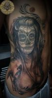 santa muerte in prog. by 2Face-Tattoo