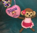 Crochet monkey and sign for baby shower. by WhimsicallyObsessed
