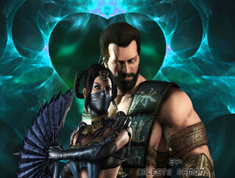 Sub-zero x Kitana: love by celtakerthebest