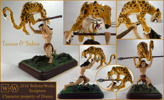 Tarzan and Sabor by WebsterWorks