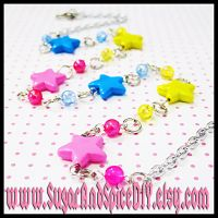 Rainbow Rave Stars Necklace by SugarAndSpiceDIY