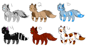 Kitty adoptable batch 1 *4 left* by SnowLilies