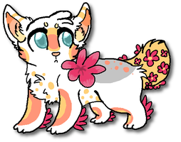 flower wolf adopt CLOSED by neon-wolf-fun