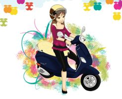 I luv Vespa by lynart