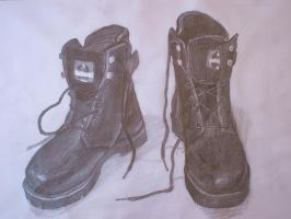 pencil drawing boots by gnsmtl