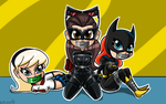 Batgirl,supergirl And Catwoman (DKR) Tape gagged by gaggeddude32