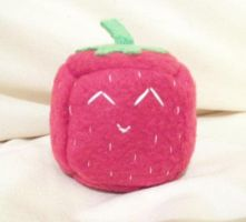 Strawberry Cube Plushie by Cube-lees