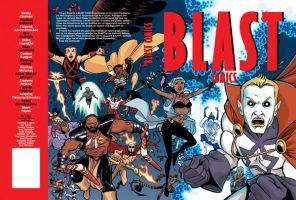 BLAST COMICS full cover by iliaskrzs