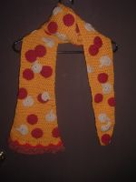 Pepperoni and mushroom pizza scarf by Nanettew9