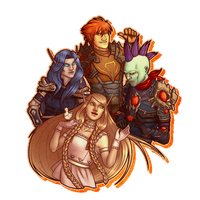 Lady Ehri, Viiper, Araym and Bella by Ramavatarama