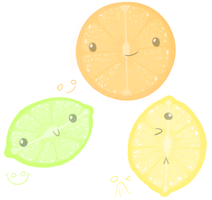 Fruity Faces by Junabelle