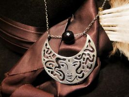 Medusa Crescent Necklace by syprina