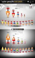 Color Pencils Icons Pack by gomez-design