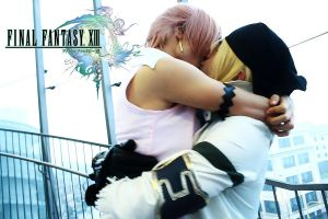 Snow and Serah: you save me by FairyScarlet