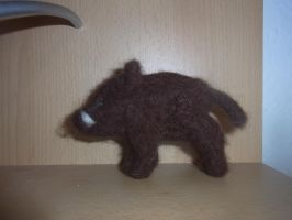 Needle felted wild boar plushie by ArcticIceWolf