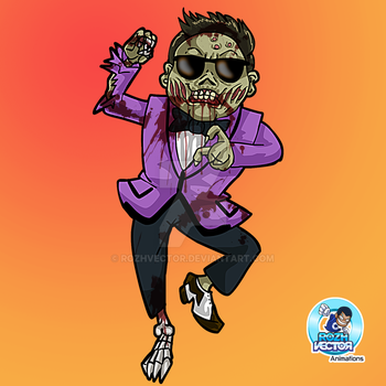 Zombie Psy Gangnam Style by rozhvector