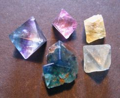 Little Fluorite Stones by Earthmagic