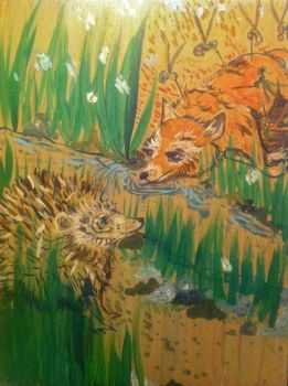 Aesop's The Fox and the Porcupine by sos1989