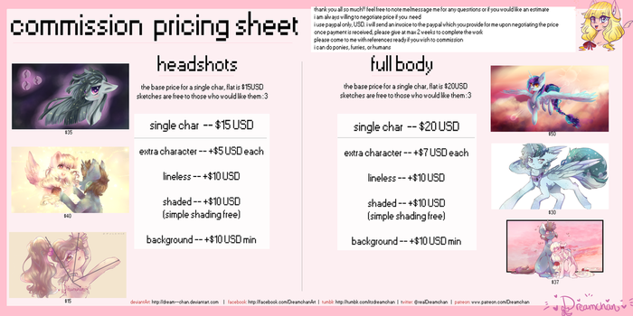 Dreamchan Commission info sheet! [Closed] by dream--chan