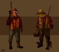 Hunter and Fisherman by Deimos-Remus