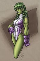 She-Hulk by AdamWithers
