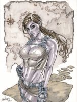 Lara Croft of Tomb Raider Commission 02 by John-Stinsman