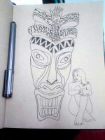 Another work in progress Tiki drawing. by Pabloramosart