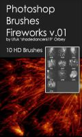Shades FireWorks v.01 HD Photoshop Brushes by shadedancer619