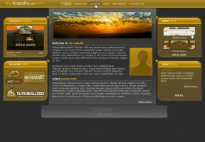 myKreative V.2 - personal site by moDesignz