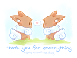 Valentines Day- Thank you for Eeveerything by DragonDogDreams
