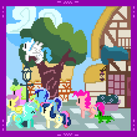 Pinkie's Quest -Ponyville Street, Outside Twilight by Zztfox