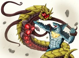 KWR:  Leviathan vs R'Ka by Blabyloo229