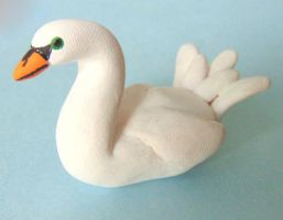 Clay Swan Figure by SolarCrush