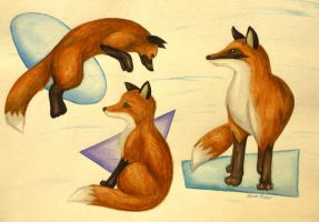 Red Foxes by ninetails390